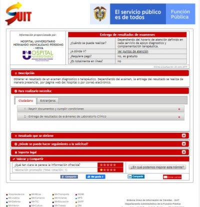 SUIT Hospital Universitario Neiva