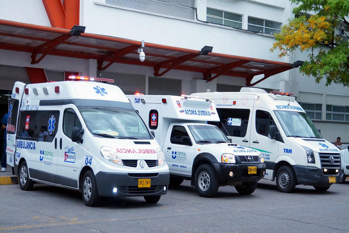 ambulancias hospital universitario de neiva